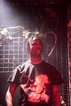 At one point throughout the night, Travis Scott left stage and climbed into the crowd.