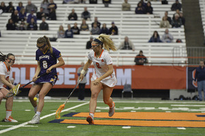Widner is the furthest from home on SU's roster. Despite her background, she's developed into a crucial piece for the Orange as the freshman has started every game for Syracuse this season.
