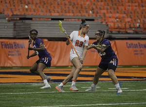 Albany transfer Alie Jimerson steps up for injured Nicole Levy at attack.