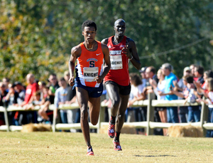 Justyn Knight finished second overall at the NCAA cross-country meet in the fall. He was the only collegiate athlete to make the podium in this race.