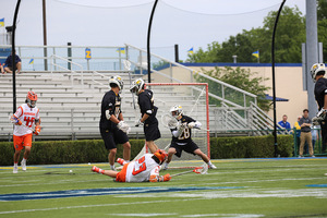 Towson star goalie Matt Hoy won the starting job in mid-April on the very same field, in Delaware Stadium, that he dominated Syracuse on a month later.